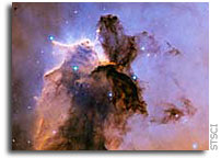 Hubble Image: The Eagle Has Risen: Stellar Spire in the Eagle Nebula