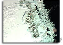 ERS altimeter survey shows growth of Greenland Ice Sheet interior