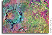 Evidence for extensive, olivine-rich bedrock on Mars