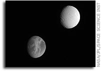 Rhea and Tethys