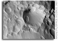 Hyperion Flyby Closeup