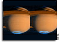 New ultraviolet images from Cassini spacecraft show auroral emissions at Saturn's poles