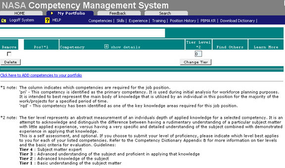 NASA Workforce Competency Dictionary: Preparation for a ...