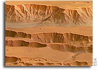 Mars Express Images: Coprates Chasma and Coprates Catena