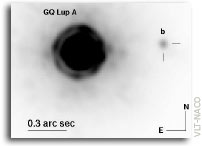 Evidence for a co-moving sub-stellar companion of GQ Lup