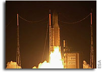 Ariane 5 lifts record payload into space