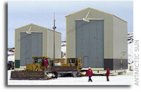 On The Move: NASA Antarctic Balloon Buildings Equipped With Skis for Mobility