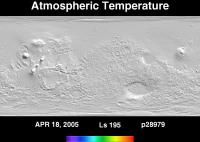 Orbit 28979atmospheric temperature map