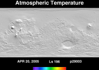 Orbit 29003atmospheric temperature map
