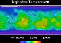 Orbit 29015nighttime surface temperature map