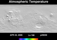Orbit 29039atmospheric temperature map
