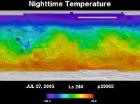 Orbit 29963nighttime surface temperature map