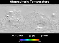 Orbit 30011atmospheric temperature map