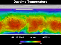 Orbit 30023daytime surface temperature map
