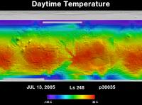 Orbit 30035daytime surface temperature map