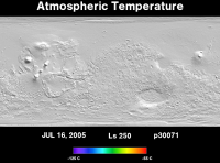 Orbit 30071atmospheric temperature map