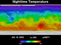 Orbit 30071nighttime surface temperature map