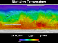 Orbit 30095nighttime surface temperature map