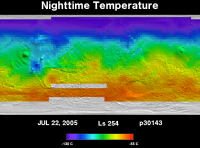 Orbit 30143nighttime surface temperature map
