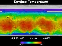 Orbit 30155daytime surface temperature map