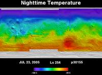 Orbit 30155nighttime surface temperature map