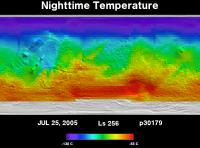 Orbit 30179nighttime surface temperature map
