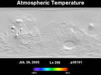 Orbit 30191atmospheric temperature map