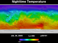 Orbit 30191nighttime surface temperature map