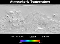 Orbit 30251atmospheric temperature map