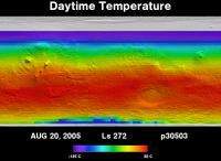 Orbit 30503daytime surface temperature map