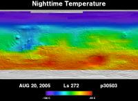 Orbit 30503nighttime surface temperature map