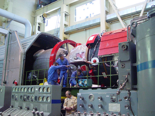 Photo Report Fueling Of The Soyuz Tma 7 Transport Spacecraft