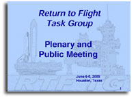 Return to Flight Task Group Meeting Presentation