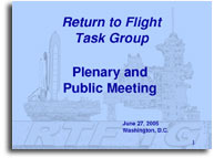 Return to Flight Task Group Plenary and Public Meeting