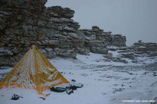 The Scott tents have four bars coming down within the tent and form a very sturdy pyramid shape. The height of the tent is roughly seven ... & Kevin Handu0027s Antarctic Journal 1 March 2005