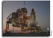 NASA's Space Shuttle Discovery Moves to Launch Pad