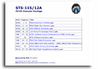 NASA STS-115/12A FD 12 Execute Package