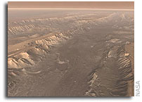 Years of Observing Combined Into NASA's Best-Yet Look at Mars Canyon