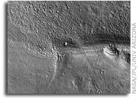 Detail of First Mars Image from Newly Arrived Camera on NASA Mars Reconnaissance Orbiter