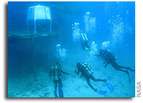 NASA NEEMO 9 Mission Journal Mission Day 1  Monday, April 3, 2006