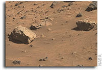 Possible Meteorites in the Martian Hills