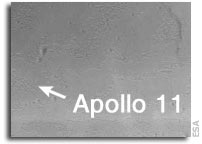 SMART-1 birthday postcard of Apollo 11 landing site