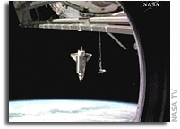 Space Shuttle Atlantis Departs International Space Station