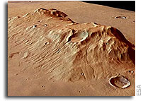 ESA Mars Express Image: Ausonia Mensa Remnant Massif