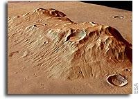 ESA Mars Express Image: Ausonia Mensa Remnant Massif