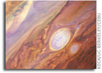 Keck telescope captures Jupiter's Red Spot Jr. as it zips past planet's Great Red Spot