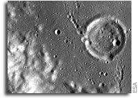 SMART-1's view of Crater Hopmann: on the shoulder of a giant
