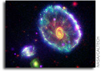 Cartwheel Galaxy Makes Waves in New NASA Image