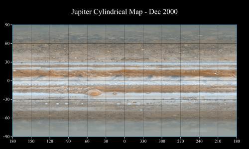 NASA Cassini s Best Maps of Jupiter Cylindrical Map