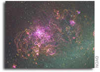 Huge Images Show Majestic Beauty and Violence of Large and Small  Magellanic Clouds